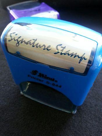 Signature Stamp