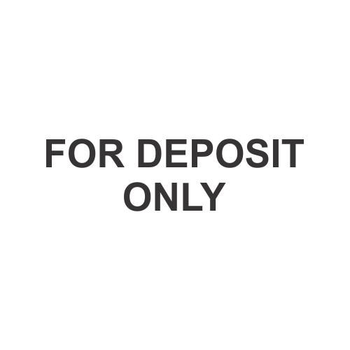 For Deposit Only - Stock Design
