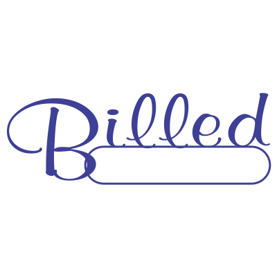 Billed Script Style Office Stamp