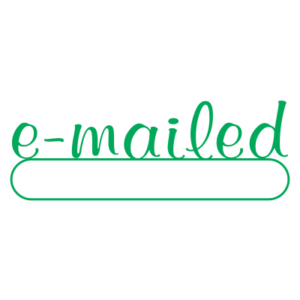 E-mailed Script Style Office Stamp