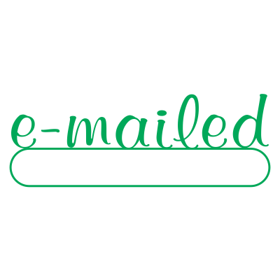 E Mailed Script Style Office Stamp