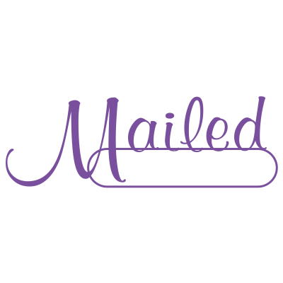 Mailed Script Style Office Stamp