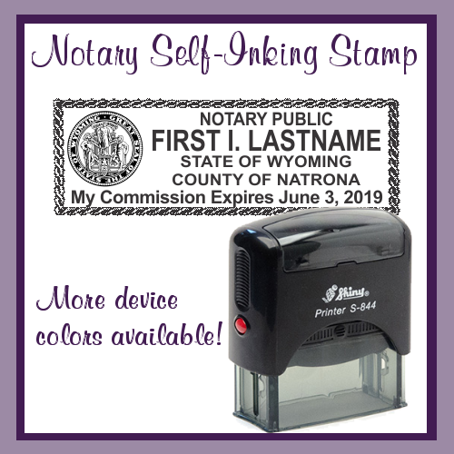 Wyoming Notary Stamp (Self-Inking)