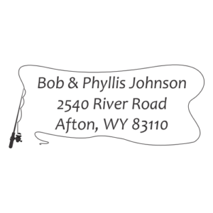 Fishing Pole Address Stamp