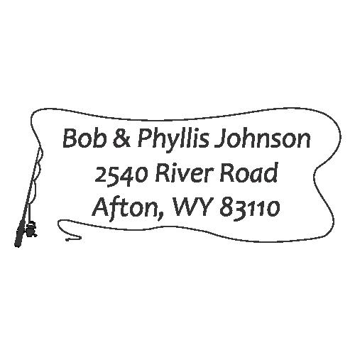 Fishing Pole Address Stamp