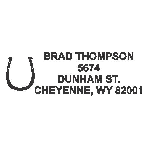 Horseshoe Address Stamp