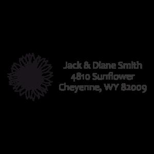 Sunflower Address Stamp