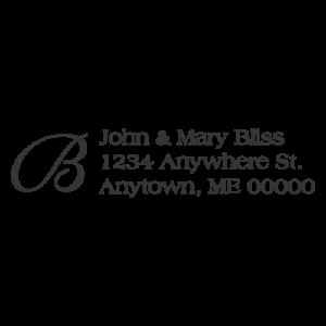 Script Letter Address Stamp