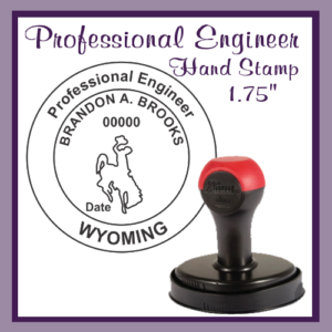 WY Professional Engineer (Hand Stamp)