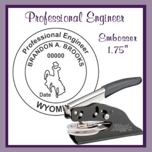 WY Professional Engineer (Embosser)