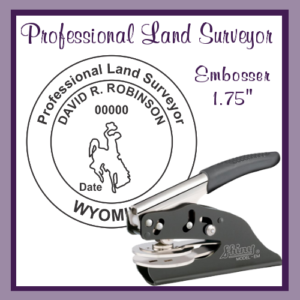 WY Professional Land Surveyor (Embosser)