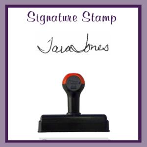 Signature Stamp (Hand Stamp)