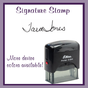 Signature Stamp (Self-Inking)