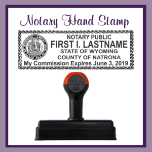 Wyoming Notary Public (Hand Stamp)