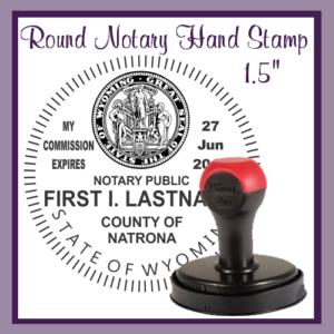 Wyoming Notary Public (Large Round Hand Stamp)