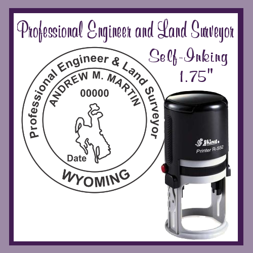 WY Professional Engineer and Land Surveyor (Self-Inking)