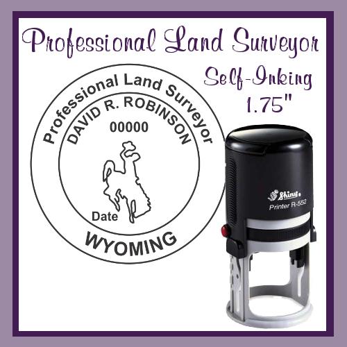 WY Professional Land Surveyor (Self-Inking)