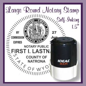 Round Notary Stamp, Self Inking
